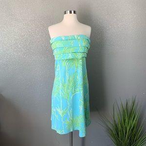 Lilly Pulitzer Big bam Pool print strapless dress